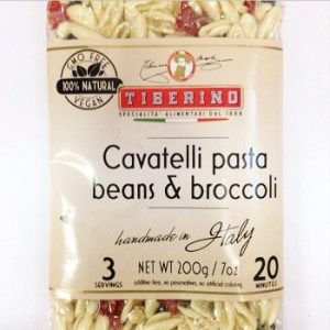 cavatelli with beans and broccoli