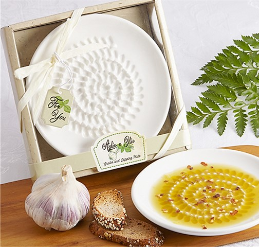 olive oil dipping plate